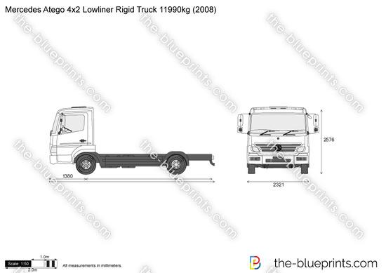 Mercedes-Benz Atego 4x2 Lowliner Rigid Truck 11990kg
