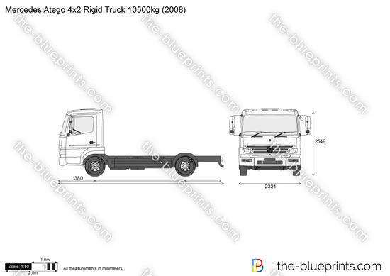 Mercedes-Benz Atego 4x2 Rigid Truck 10500kg