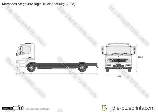 Mercedes-Benz Atego 4x2 Rigid Truck 13500kg