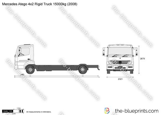 Mercedes-Benz Atego 4x2 Rigid Truck 15000kg