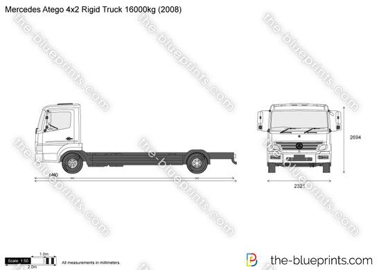 Mercedes-Benz Atego 4x2 Rigid Truck 16000kg