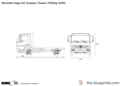 Mercedes-Benz Atego 4x2 Sweeper Chassis 15000kg