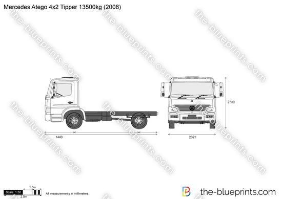 Mercedes-Benz Atego 4x2 Tipper 13500kg
