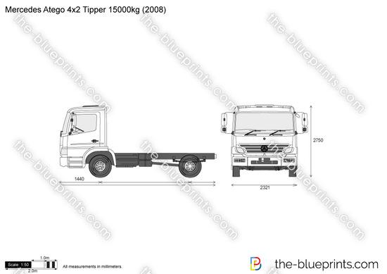 Mercedes-Benz Atego 4x2 Tipper 15000kg
