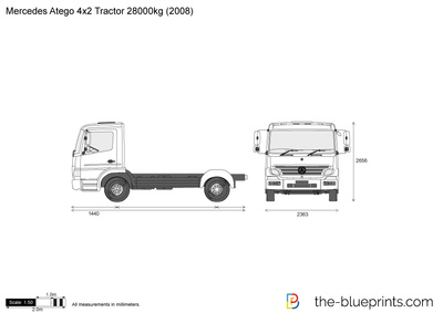 Mercedes-Benz Atego 4x2 Tractor 28000kg