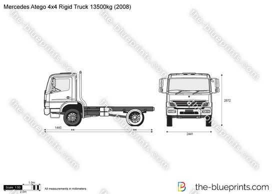 Mercedes-Benz Atego 4x4 Rigid Truck 13500kg