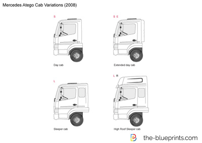 Mercedes-Benz Atego Cab Variations