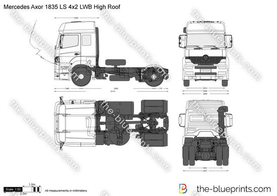 Mercedes-Benz Axor 1835 LS 4x2 LWB High Roof