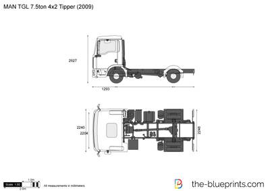 MAN TGL 7.5ton 4x2 Tipper