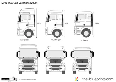 MAN TGX Cab Variations