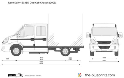 Iveco Daily 45C15D Dual Cab Chassis