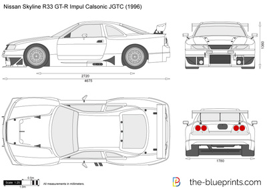Nissan Skyline R33 GT-R Impul Calsonic JGTC