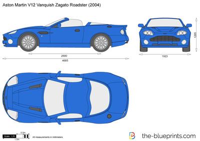 Aston Martin V12 Vanquish Zagato Roadster (2004)
