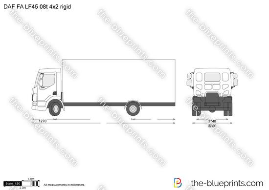 DAF FA LF45 08t 4x2 rigid