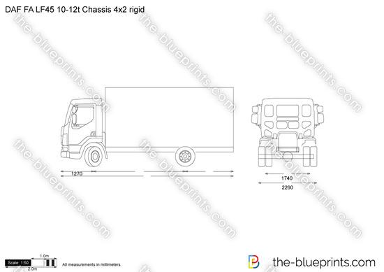 DAF FA LF45 10-12t Chassis 4x2 rigid