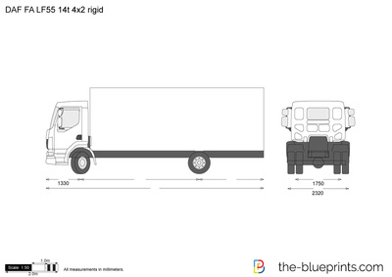 DAF FA LF55 14t 4x2 rigid