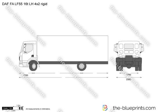 DAF FA LF55 16t LH 4x2 rigid