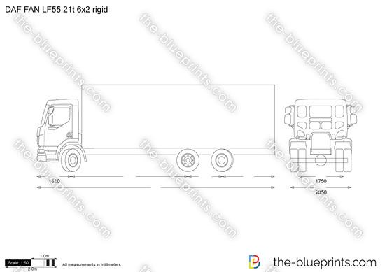 DAF FAN LF55 21t 6x2 rigid