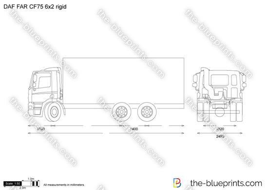 DAF FAR CF75 6x2 rigid