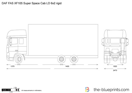 DAF FAS XF105 Super Space Cab LD 6x2 rigid