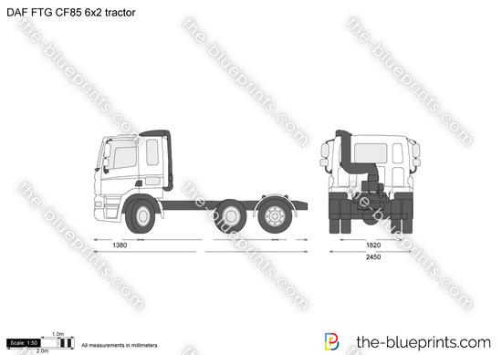 DAF FTG CF85 6x2 tractor