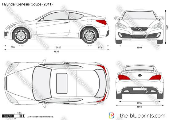 The Blueprints Com Vector Drawing Hyundai Genesis Coupe