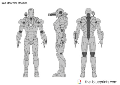 Iron man war machine vector drawing vector drawing preview iron man war machine malvernweather Image collections