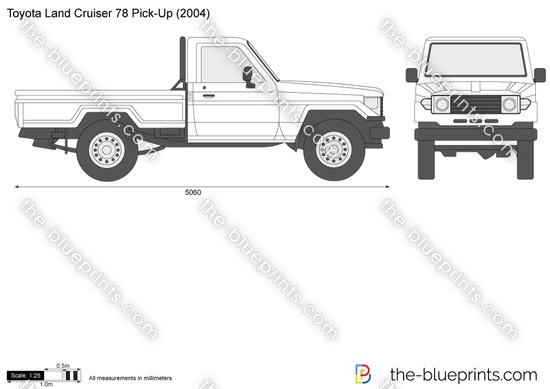 The-Blueprints.com - Vector Drawing - Toyota Land Cruiser ...