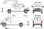 Ford E-350 Type II Ambulance