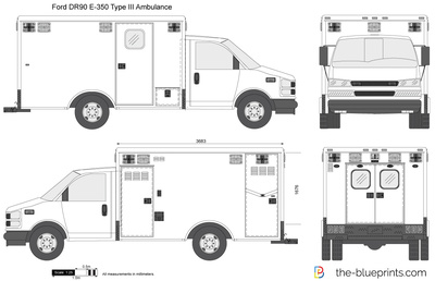 Ford E-350 Type III DR90 Ambulance