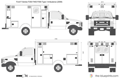 Ford F-Series F350 F450 F550 Type I Ambulance