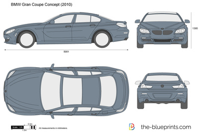 BMW Gran Coupe Concept vector drawing