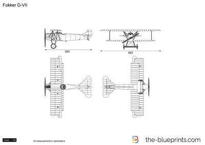 Fokker D Vii Vector Drawing