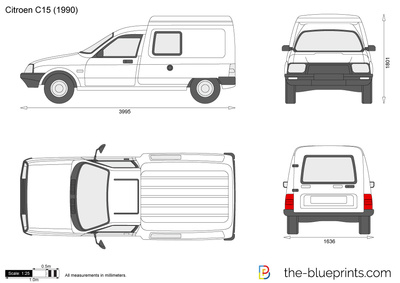 blueprints cars citroen citroen c15 1992. Black Bedroom Furniture Sets. Home Design Ideas