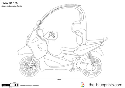 Bmw C1 125 Vector Drawing