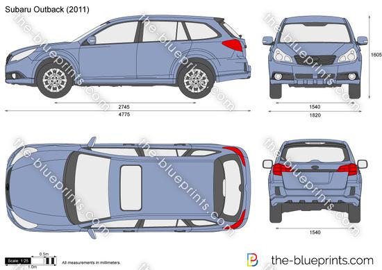 Subaru Outback Vector Drawing