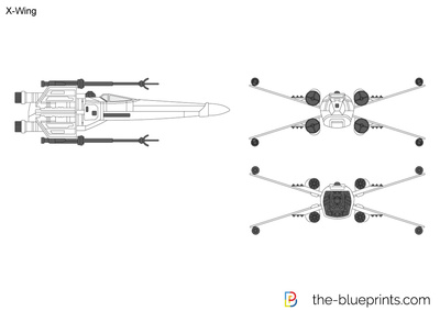 X-Wing vector drawing on minecraft schematics, halo warthog schematics, a wing fighter schematics, y-wing schematics, b-wing schematics, slave 1 schematics, tie interceptor schematics, at-at schematics,