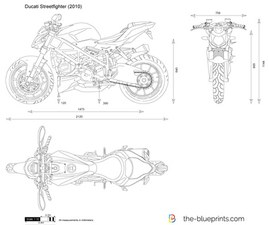 Blueprint Vector Drawings Vector Drawing Preview Ducati