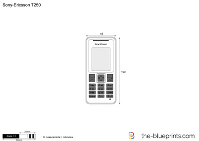 Sony-Ericsson T250 vector drawing