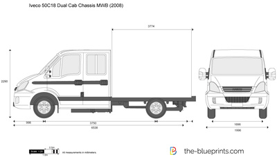Iveco 50C18 Dual Cab Chassis MWB