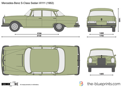 Mercedes-Benz S-Class Sedan W111