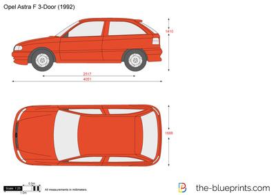 Opel Astra F 3-Door (1992)