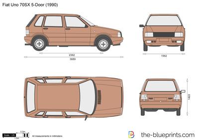Fiat Uno 70SX 5-Door (1990)
