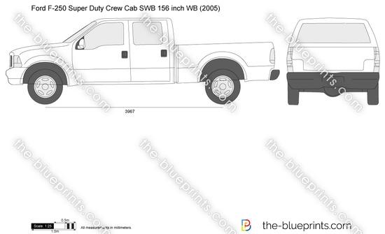 Ford F-250 Super Duty Crew Cab SWB 156 inch WB