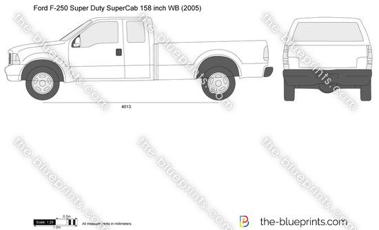 Ford F-250 Super Duty SuperCab LWB 158 inch WB