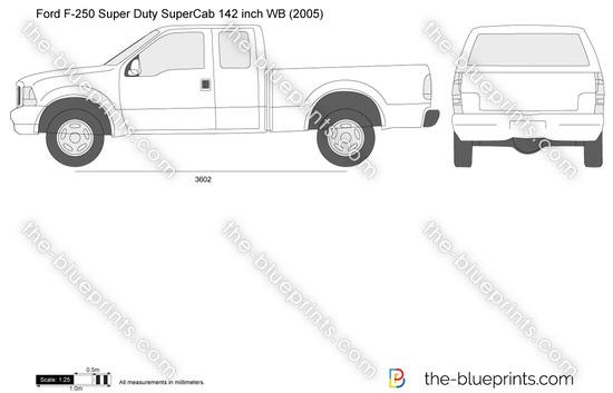 Ford F-250 Super Duty SuperCab SWB 142 inch WB