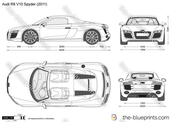 Audi r8 v10 spyder vector drawing audi r8 v10 spyder malvernweather Images