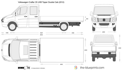 Volkswagen Crafter 35 LWB Tipper Double Cab