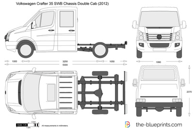 Volkswagen Crafter 35 SWB Chassis Double Cab