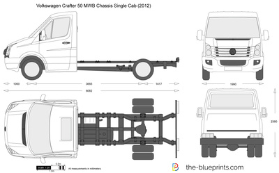 Volkswagen Crafter 50 MWB Chassis Single Cab